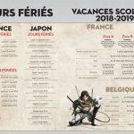 Agenda 2018-2019 L'Attaque des Titans