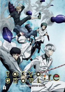 Couverture agenda scolaire 2018-2019 Tokyo Ghoul:Re