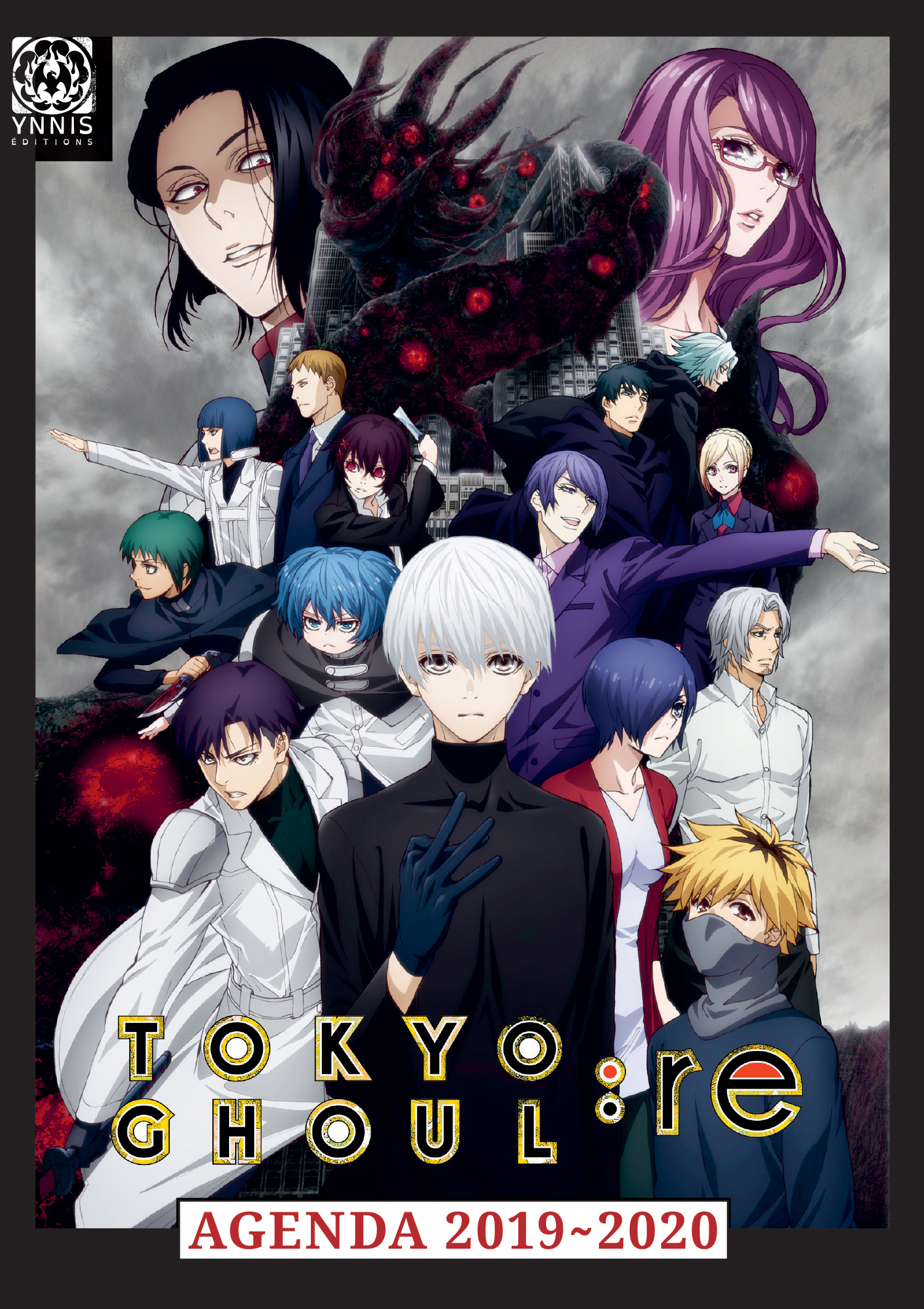Calendrier Manga 2020.Tokyo Ghoul Re Agenda Scolaire 2019 2020 Ynnis Editions