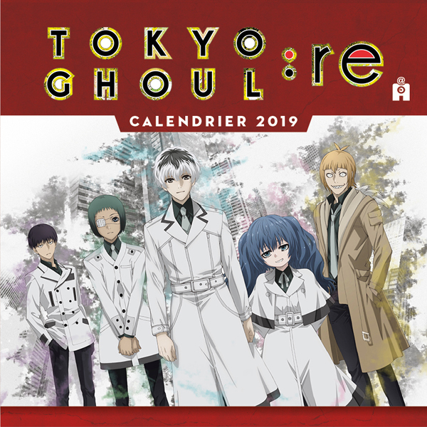 Couverture Calendrier Tokyo Ghoul:Re 2019